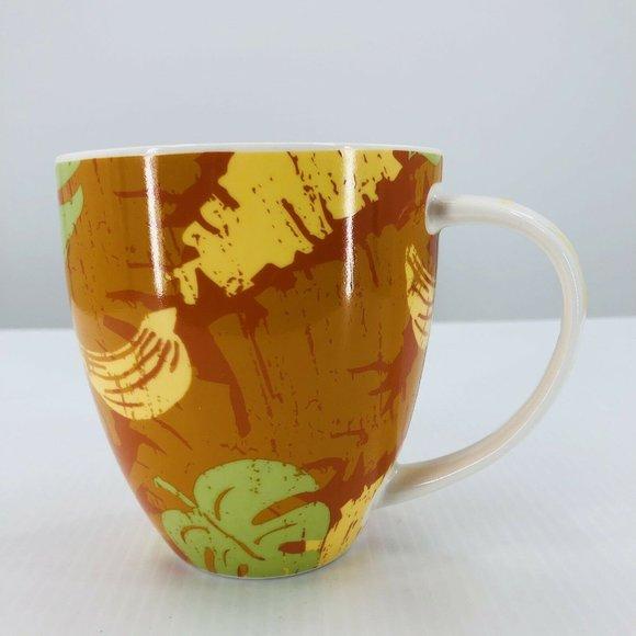 Starbucks Mug 2006 Tropical Hawaiian Banana Leaf